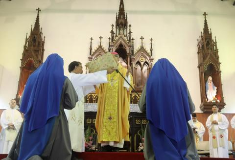 Solemn blessing of the two newly professed