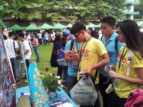 Youth from the Diocese visiting our booth