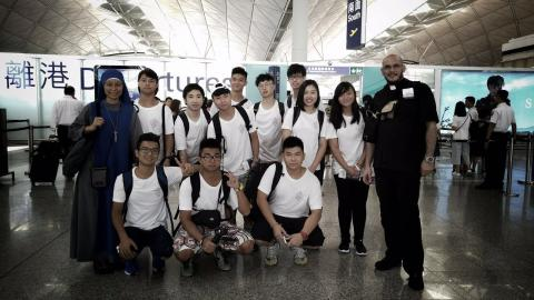 Pilgrimage group departing from Hong Kong International Airport