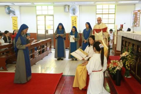 Sr. Jin Jiao making her perpetual profession