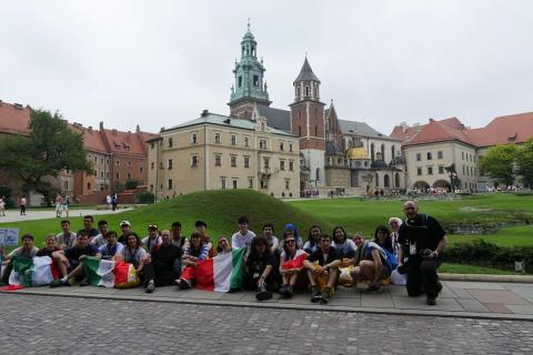 Meeting other WYD pilgrims at Wawel Hill