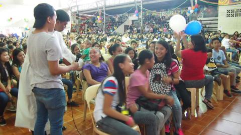 Youth participating during the talk
