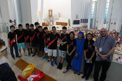 Group picture at the Sanctuary Divine Shrine