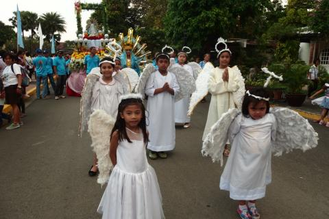 Children from the Parish dressing up as angels