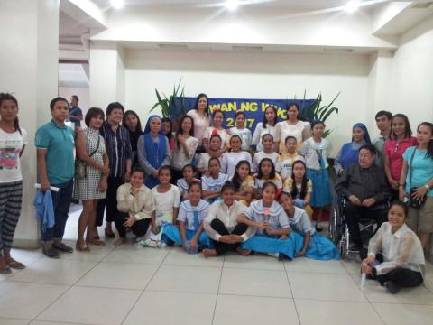 Buwan ng wika 2017 in the home school in Mercy home