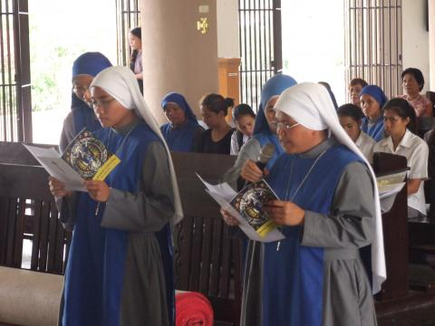 Sisters professing their First Vows