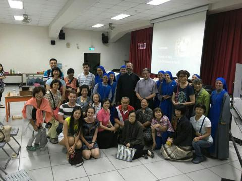 after the conference of persecuted Christians by Fr. Montes and Sr. Guadalupe in Zhongli, Taiwan, together with Bishop Emeritus Liu