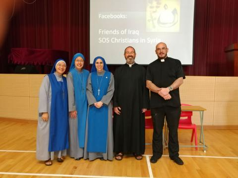 missionaries in Hong Kong from the Religious Family of the Inarnate Word together with Fr. Montes and Sr. Guadalupe in Hong Kong