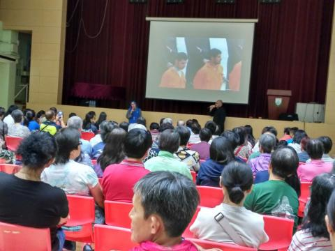 conference of persecuted Christians by Fr. Montes and Sr. Guadalupe in Hong Kong