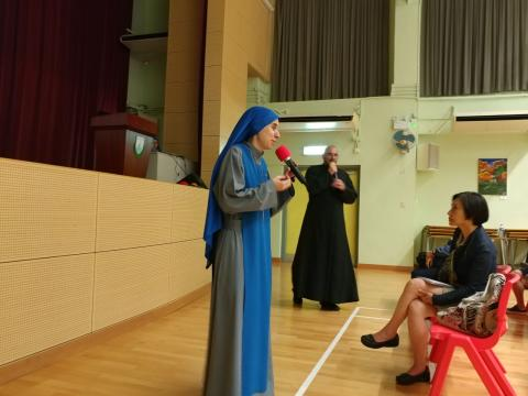 sharing of Fr. Montes and Sr. Guadalupe in Hong Kong