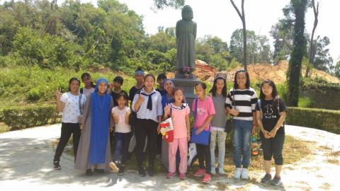 Dali, Taiwan-faithful had pilgrimage to Jinmen Island, visiting a Catholic museum which was formerly the first parish in the Island