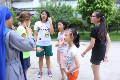 summer activity in Zhongli parish, Taiwan