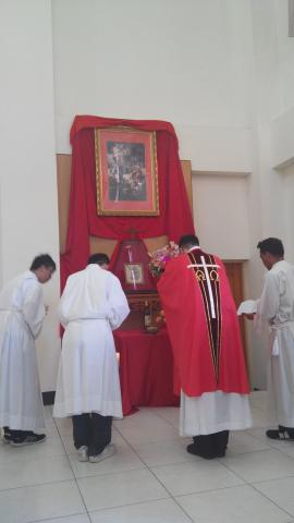 ceremony led by Fr. Pablo, IVE, on the Feast of Chinese Martyrs Parish in Puxin, Taiwan