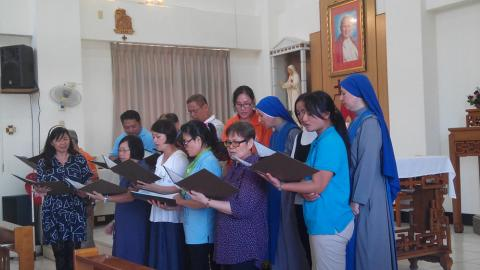 performance of parish choir