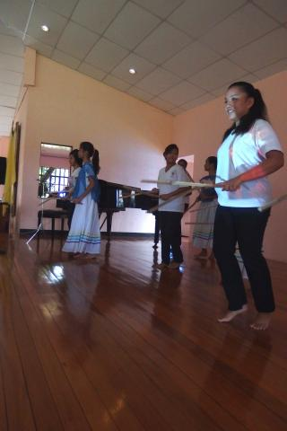 Performance from our girls in the Caloocan mission