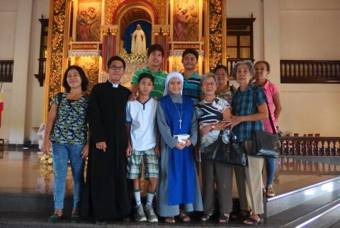 Sister Mary Mediatrix of All Grace with her family
