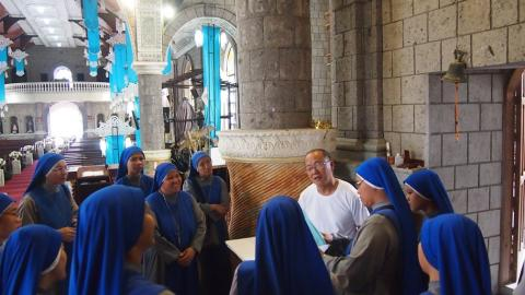 Juniorate sisters visiting various places in the pilgrimage