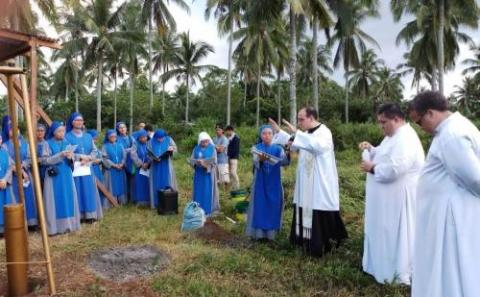 Ground Breaking Ceremony of the SSVM Monastery at Lipa, Philippines
