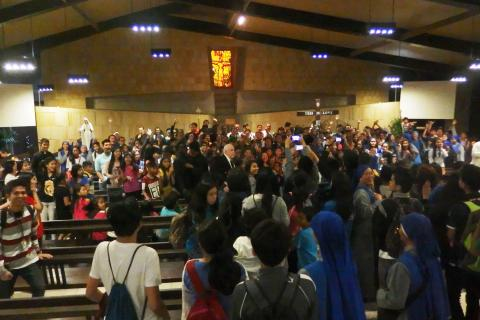 The excited youth rejoiced together for such a great event