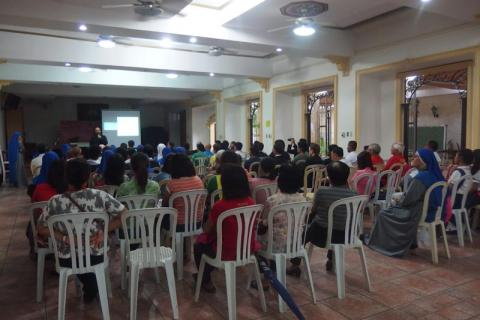 testimony of the missionary experience in Iraq by Fr. Luis Montes, IVE, and that in Syria by Sr. Guadalupe, SSVM, given in Philippines