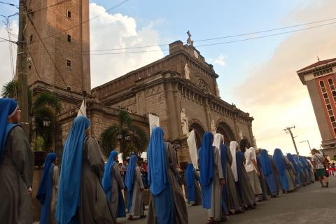 SSVM sisters at the Grand Marian Procession 2015