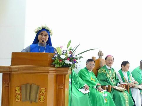 TW profession 2017-thanksgiving of Sr. Baoxi after the Holy Mass
